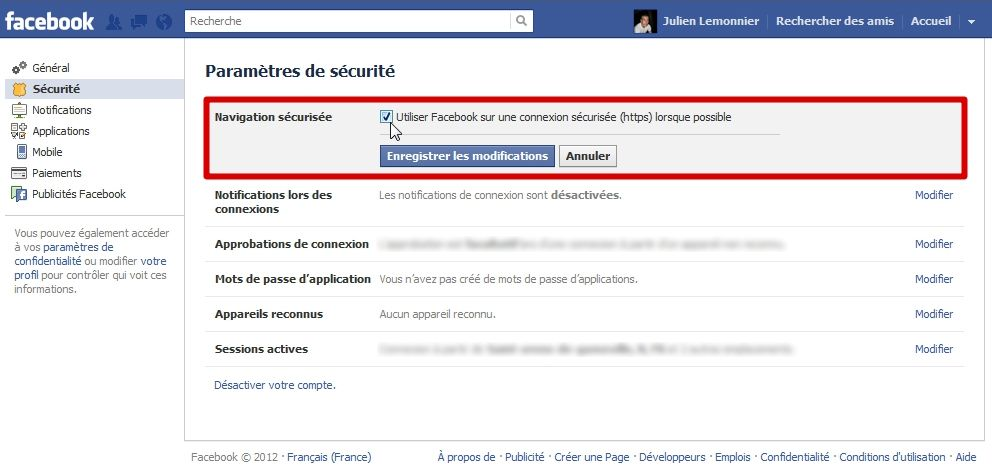 Sécuriser Facebook : le guide #5