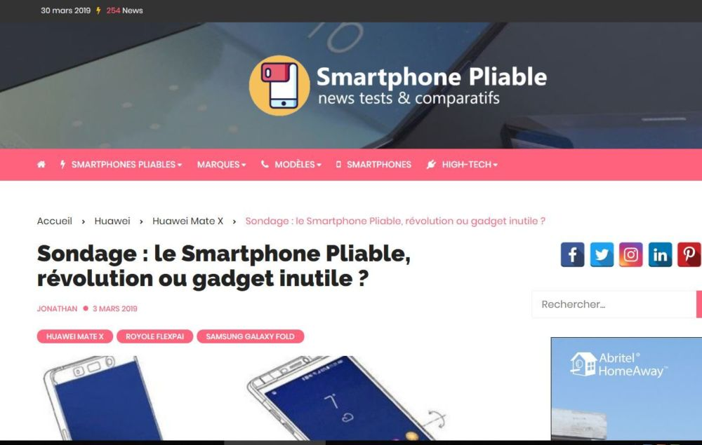 Interview de Thomas Lecors, fondateur du magazine Smartphonepliable.co #2